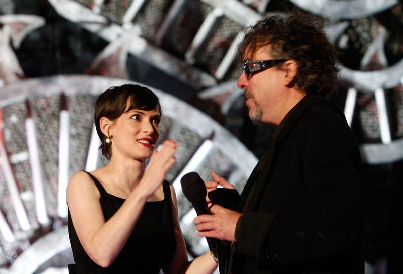 Winona Ryder and Tim Burton in 2008