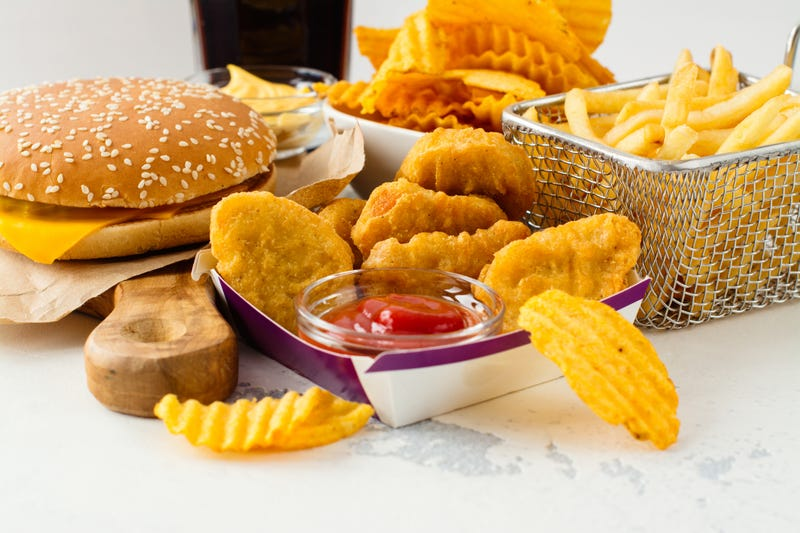 Fast food on a table