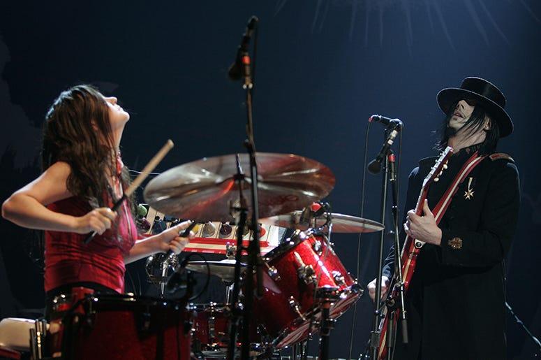 Meg White and Jack White of The White Stripes