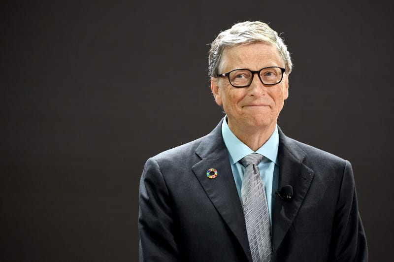 bill gates with giddy smile