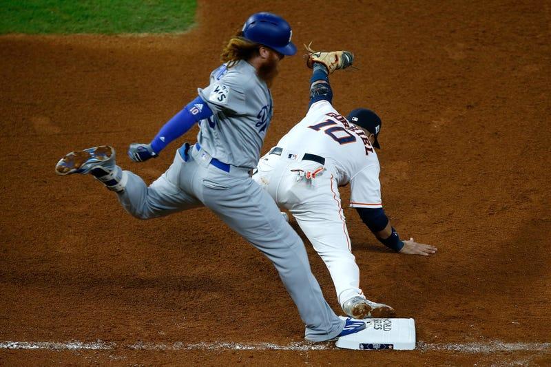 Justin Turner and Yuli Gurriel
