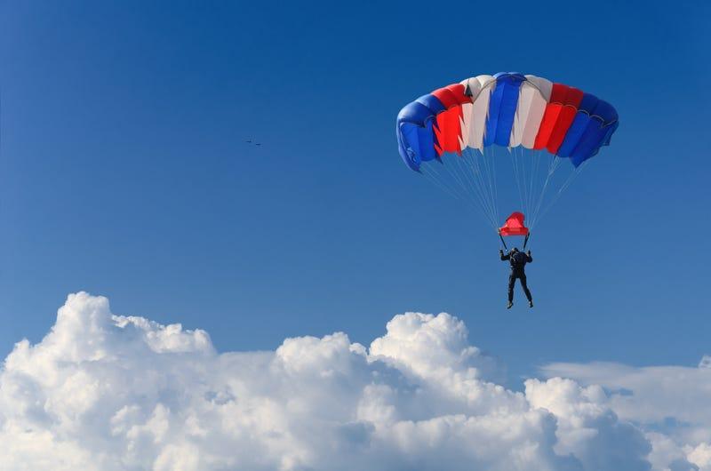 Skydive stock image