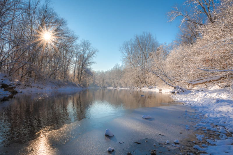 A sunny morning in December at Tyler State Park in Bucks County, Pa.