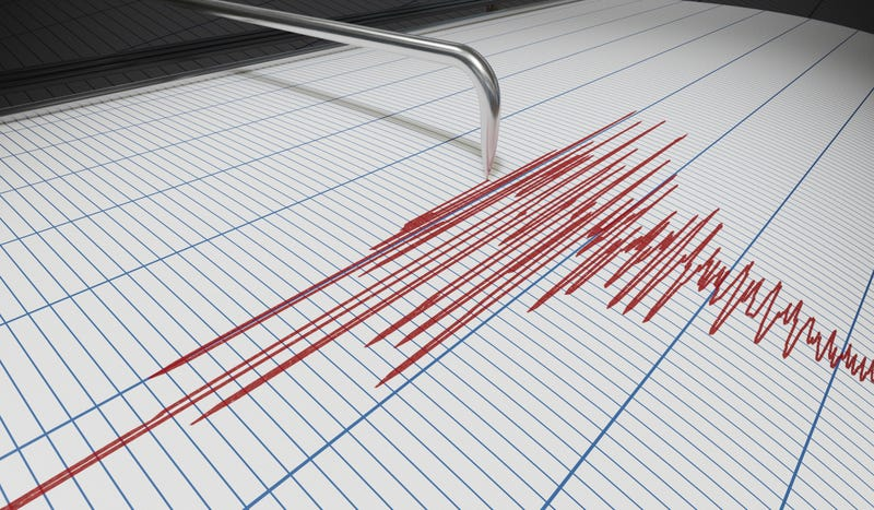 Seismograph for earthquake detection or lie detector is drawing chart