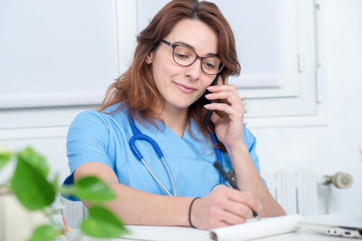 nurse on phone
