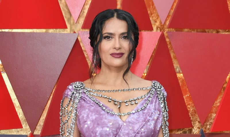 Salma Hayek Pinault attends the 90th Annual Academy Awards at Hollywood & Highland Center