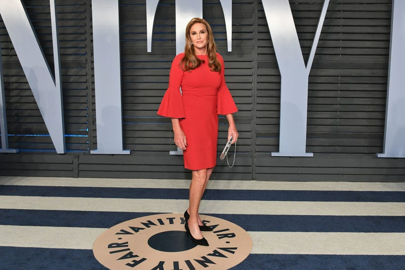 Caitlyn Jenner attends the 2018 Vanity Fair Oscar Party hosted by Radhika Jones at Wallis Annenberg Center for the Performing Arts on March 4, 2018 in Beverly Hills, California.