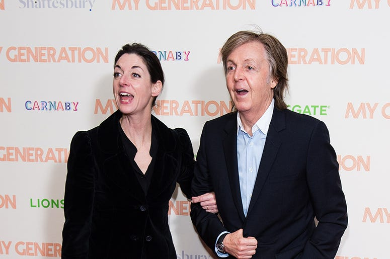 Mary McCartney and Paul McCartney