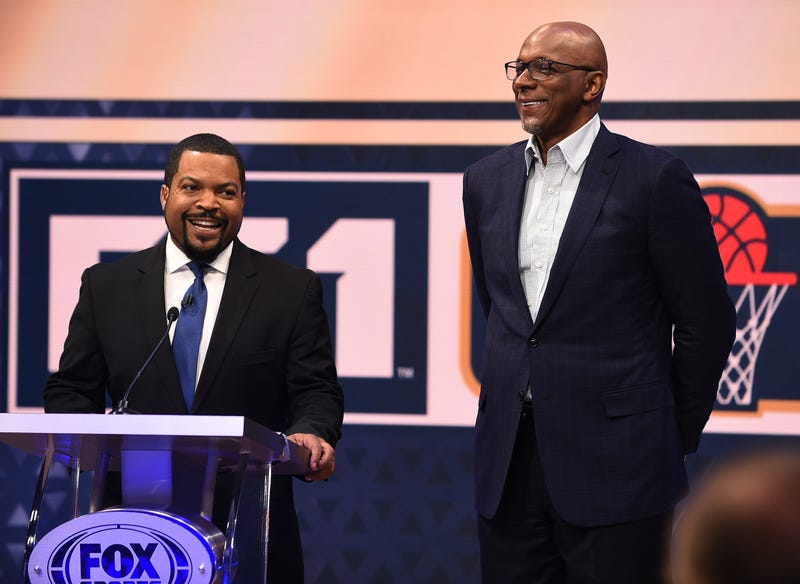 BIG3 leaders Ice Cube and Clyde Drexler.
