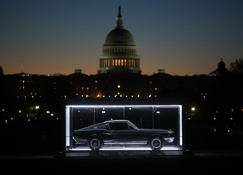 The car on display in on the National Mall in DC in 2018