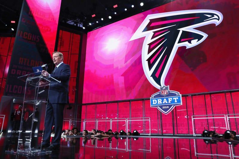 Atlanta Falcons on the clock at the 2018 NFL Draft.