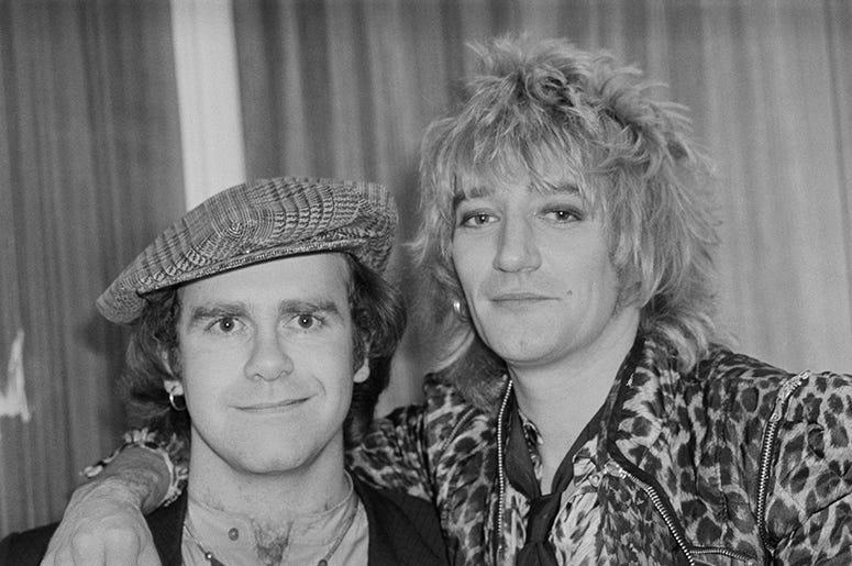 Elton John and Rod Stewart (1978)