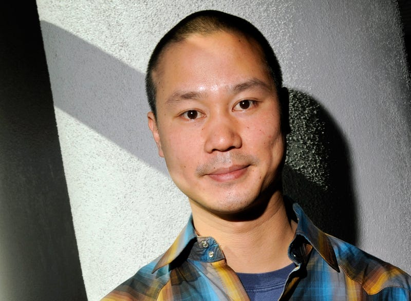 Zappos.com CEO Tony Hsieh poses after delivering a keynote presentation at the MAGIC clothing industry convention at the Las Vegas Convention Center February 17, 2010 in Las Vegas.