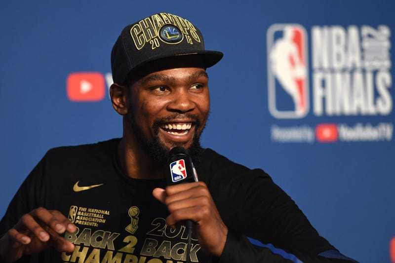 Kevin Durant won two NBA Finals MVPs with the Golden State Warriors.