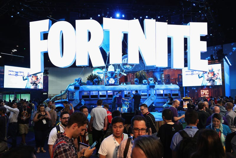 Game enthusiasts and industry personnel visit the 'Fortnite' exhibit during the Electronic Entertainment Expo E3 at the Los Angeles Convention Center.