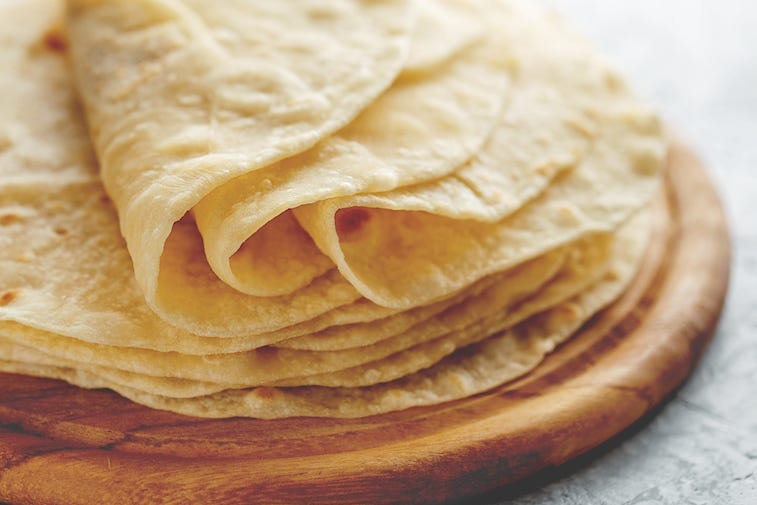 Pile of tortillas