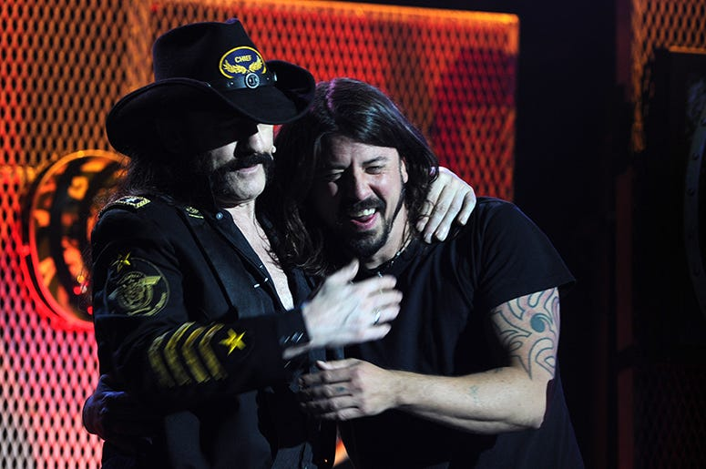 Lemmy Kilmister and Dave Grohl