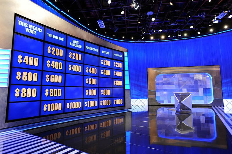 """A general view on the set of the """"Jeopardy!"""""""
