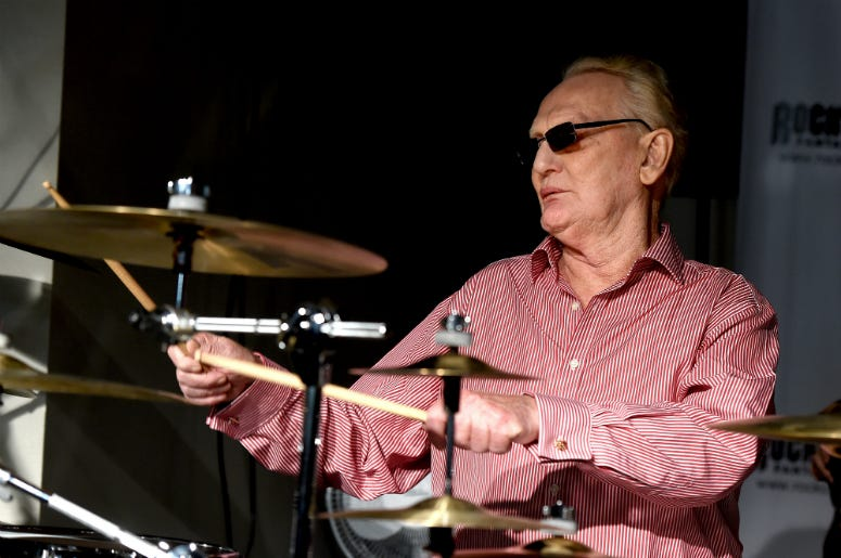 Ginger Baker of Cream performs at the Rock 'N' Roll Fantasy Camp