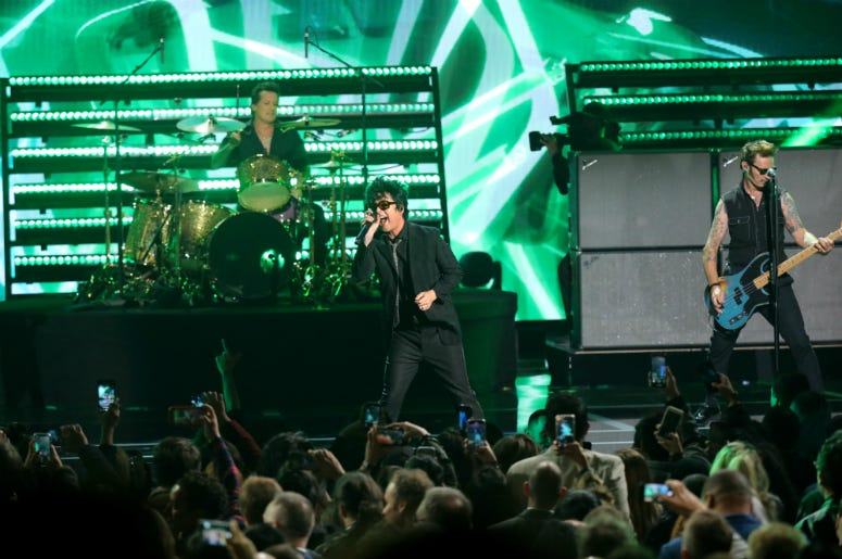 Green Day performs onstage during The Game Awards 2019