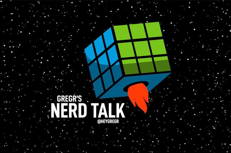 Nerd Talk logo in space
