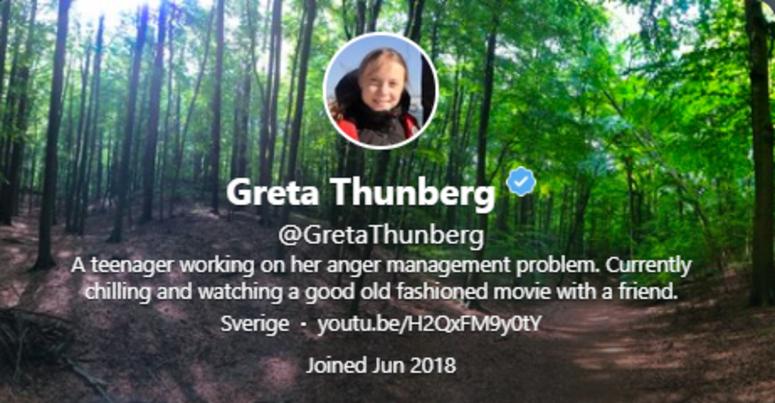 Twitter @GretaThunberg
