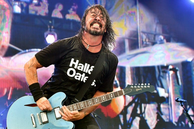 Dave Grohl of Foo Fighters performs onstage during day 2 of the 2019 Pilgrimage Music & Cultural Festival