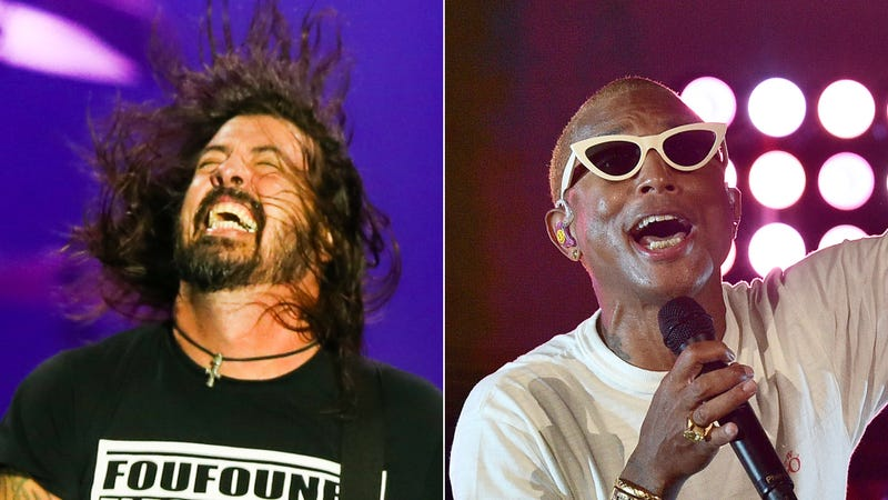 Dave Grohl and Pharrell Williams
