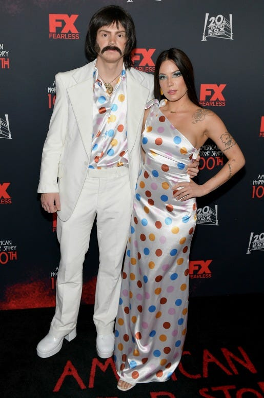 "Evan Peters and Halsey attend FX's ""American Horror Story"" 100th Episode Celebration"