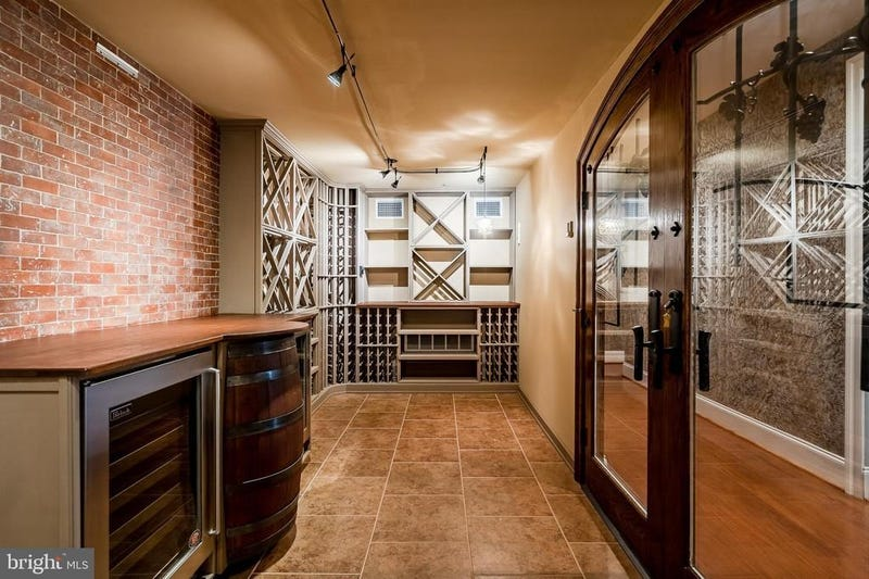 A wine cellar in Hamels' home.