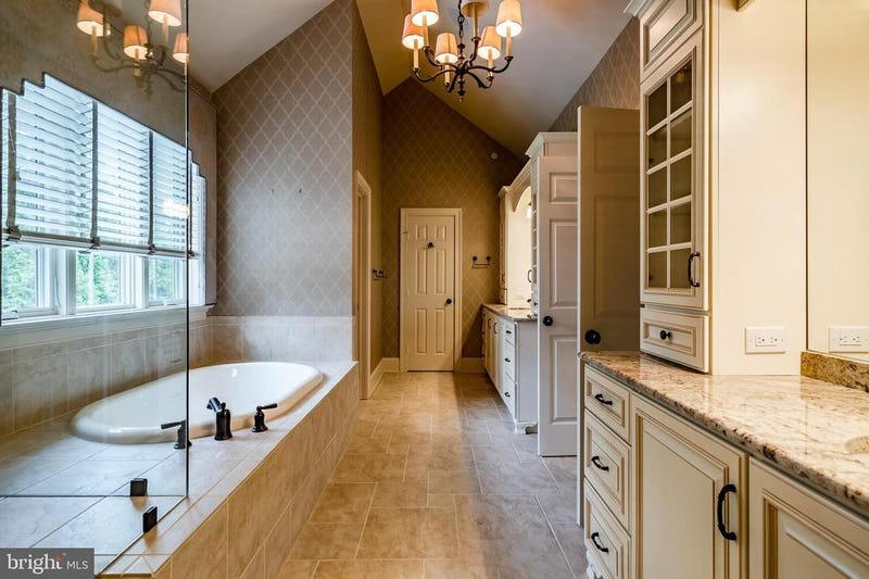The primary bathroom in Hamels' home.