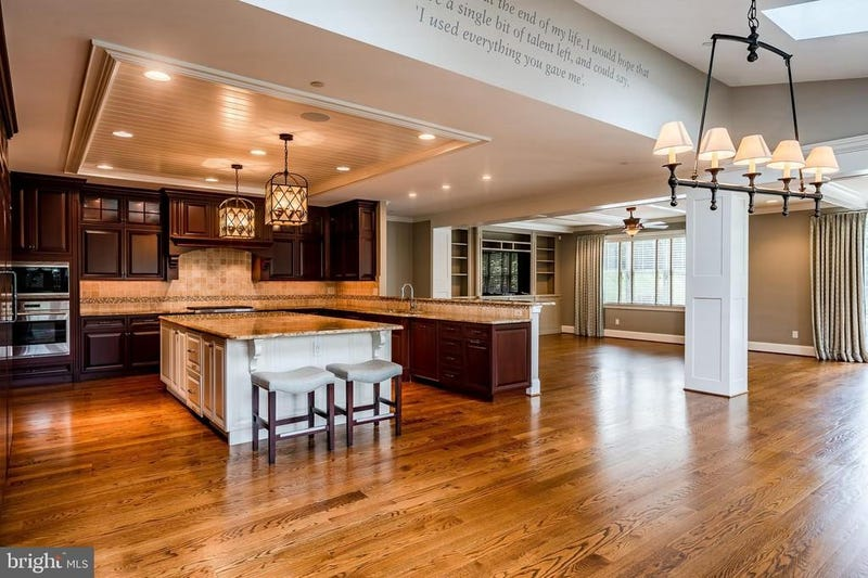 A view of Hamels' kitchen and living room areas.