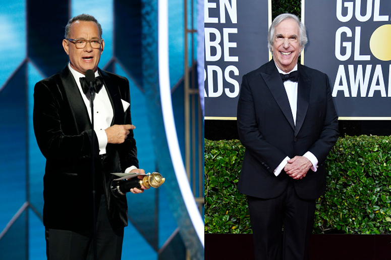 Tom Hanks and Henry Winkler at the Golden Globes
