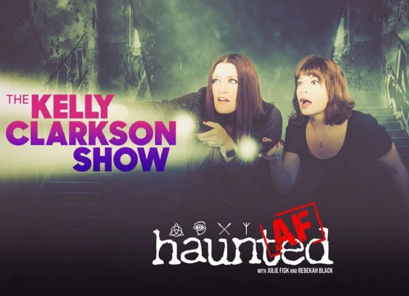 Logo from Rebekah Black's and Julie Fisk's podcast 'Haunted AF'
