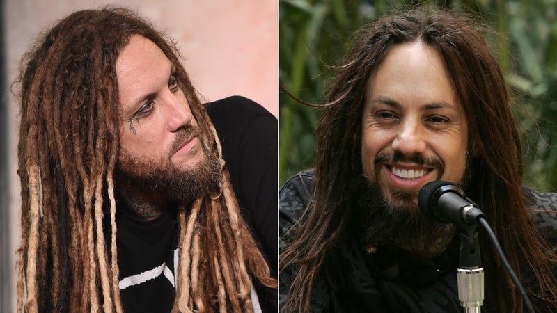 """Brian """"Head"""" Welch and Reginald """"Fieldy"""" Arvizu of Korn"""