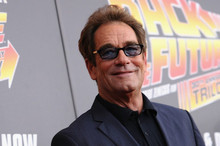 Huey Lewis attends the Back to the Future reunion in 2015.