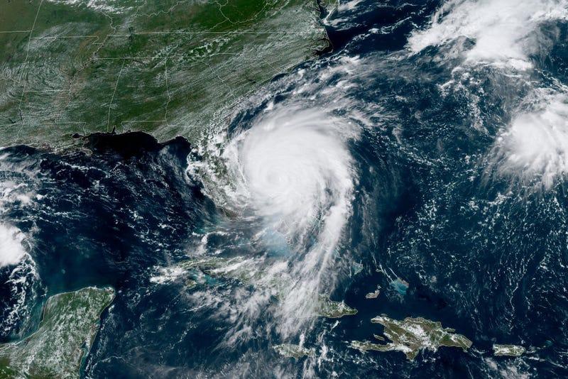 Hurricane Dorian from above, hitting Florida