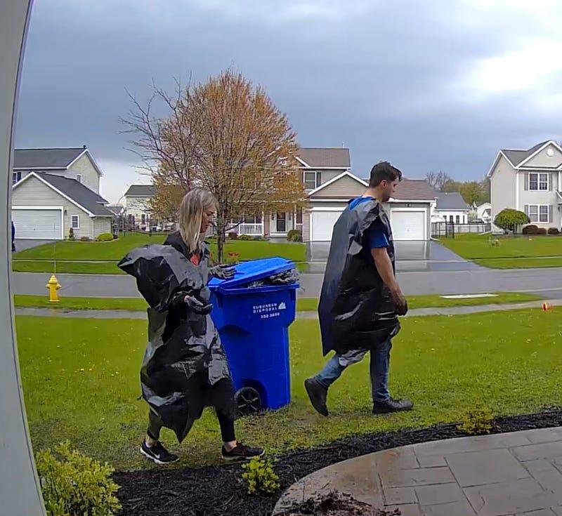 Chris Konya Garbage Bag Ponchos