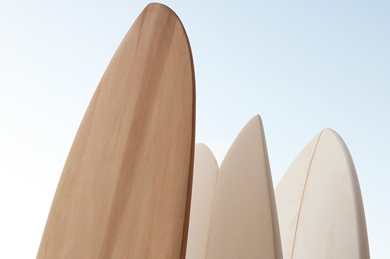 Fresh surfboards at Sea.Hear.Now