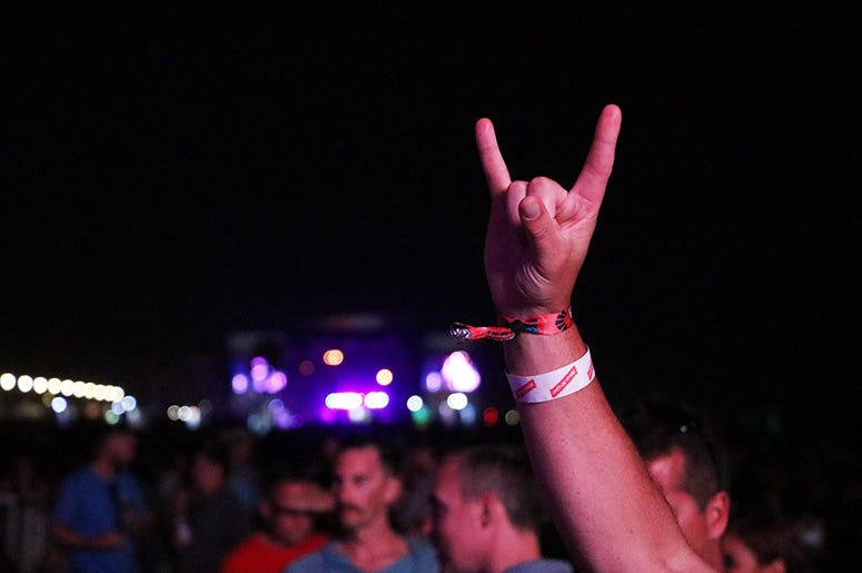 Rock hand at Sea.Hear.Now music festival