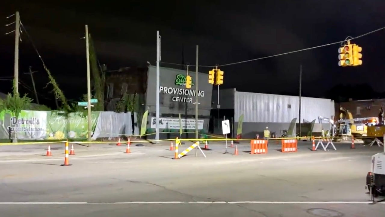 DTE investigating possible underground explosion after building, roads damaged in Southwest Detroit