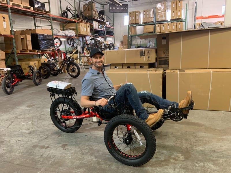 Electric Bike Technologies custom tricycle