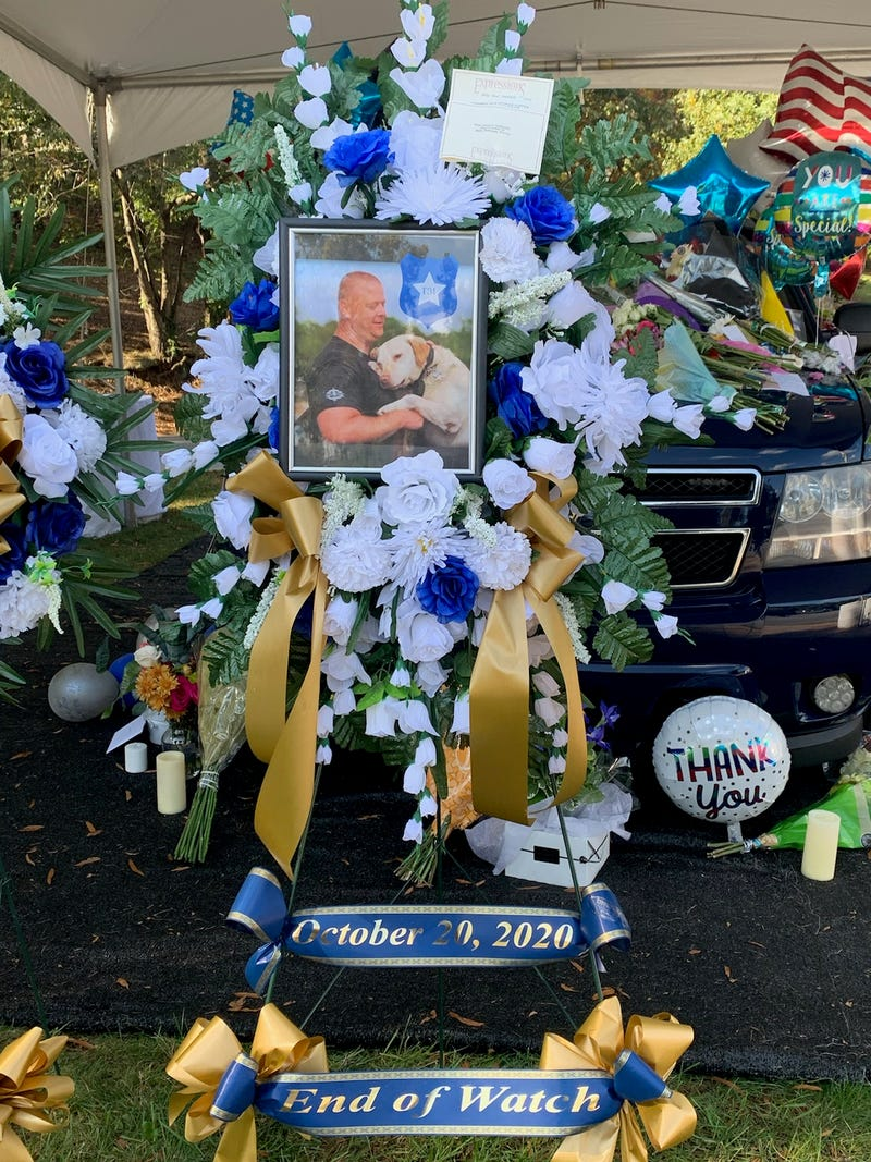 Memorial for Sgt. Conley Jumper behind the LEC on Stone Street