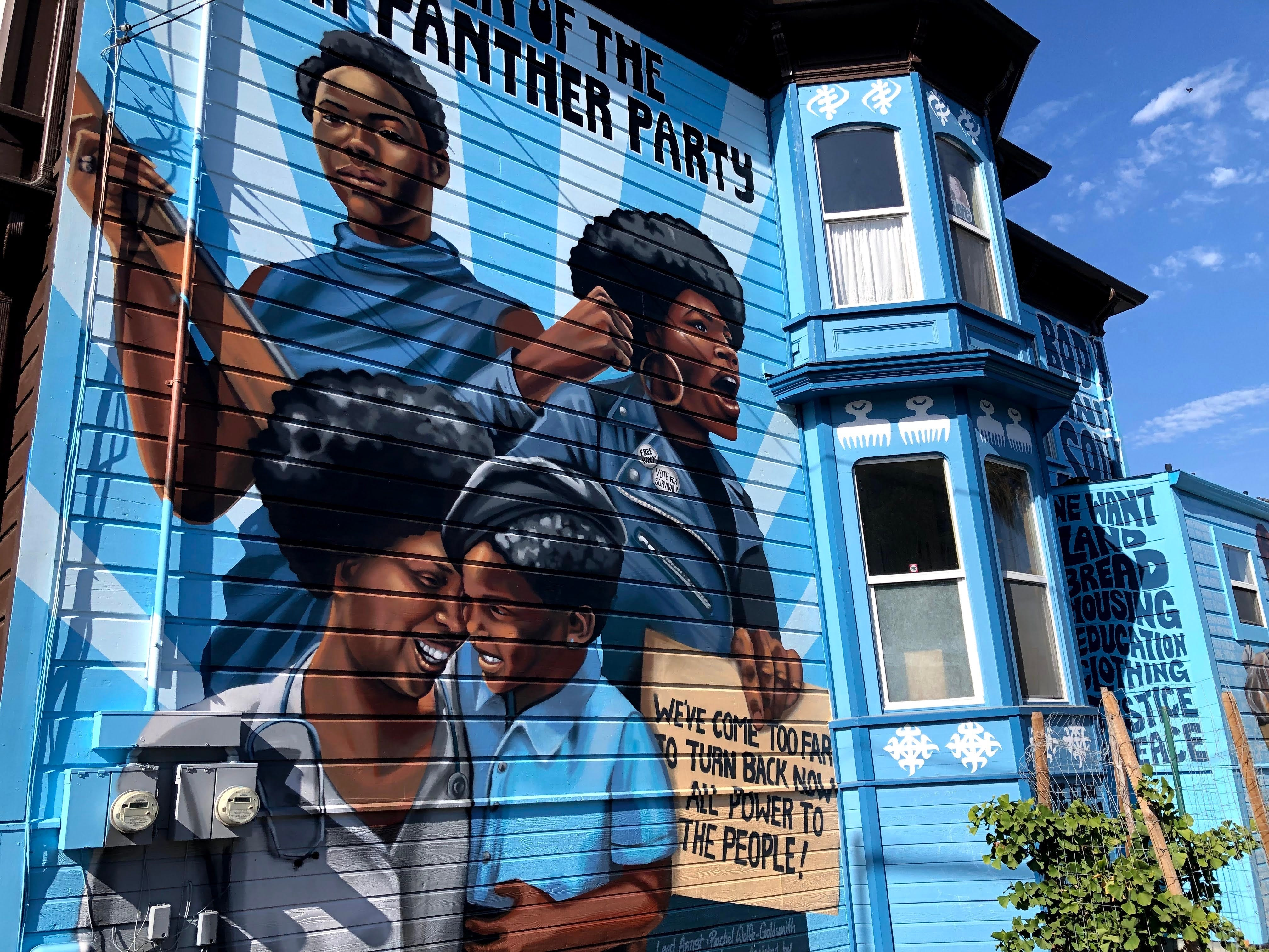 PHOTOS: Two-story Oakland mural honors women of the Black Panther Party