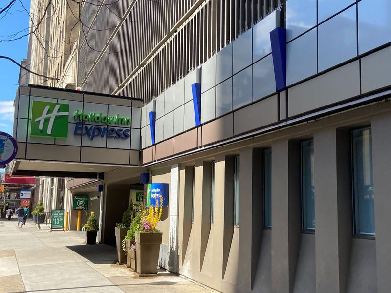 Holiday Inn Express used as quarantine site for homeless people