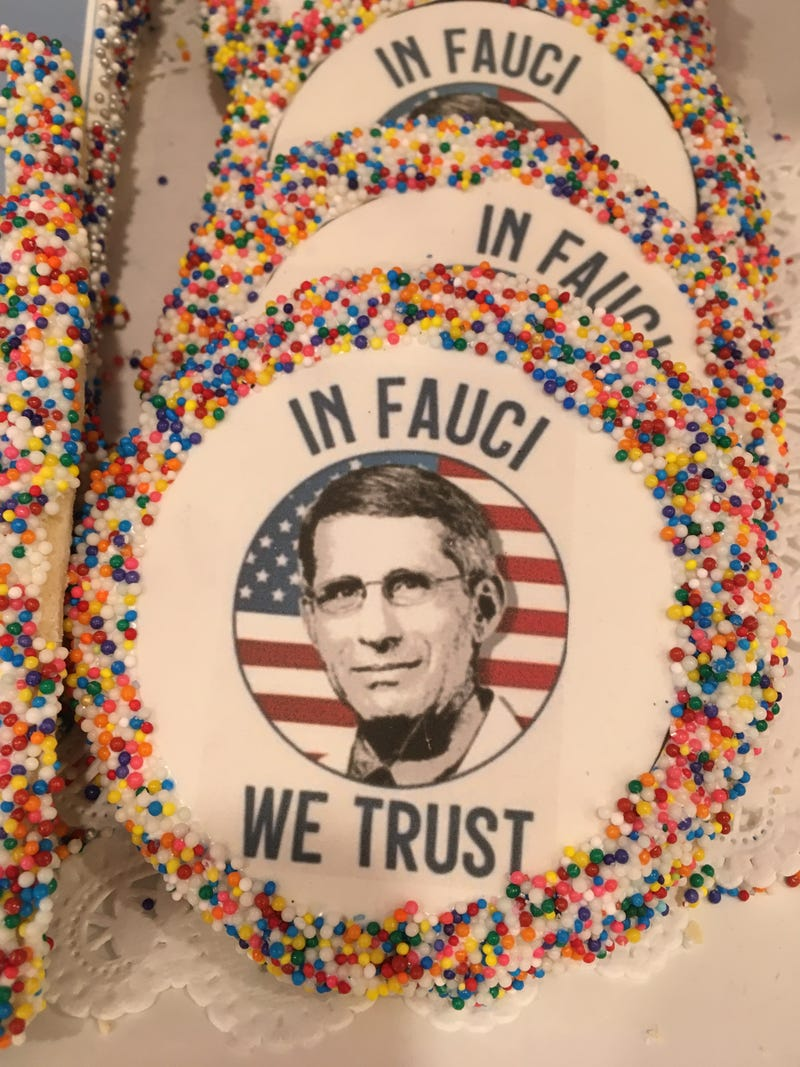 """In Fauci We Trust"" cookie"