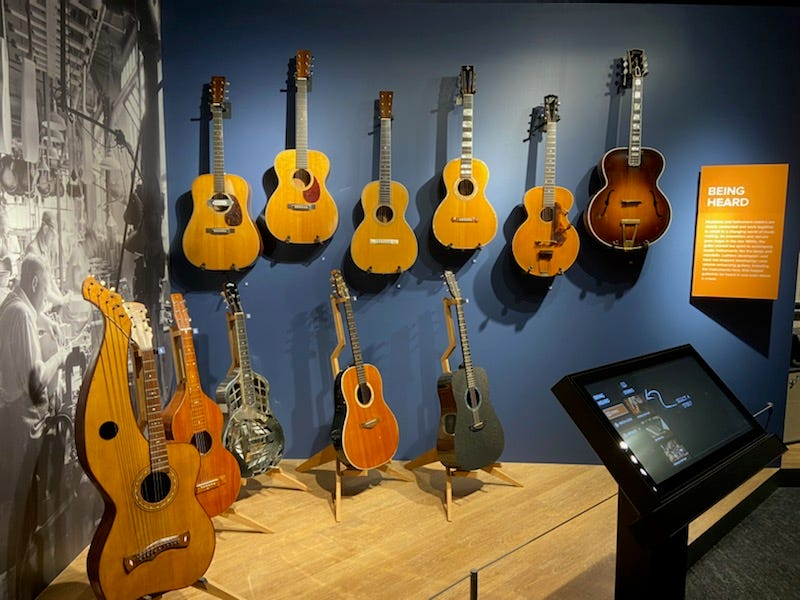 Guitars on display at NAMM's Museum of Making Music