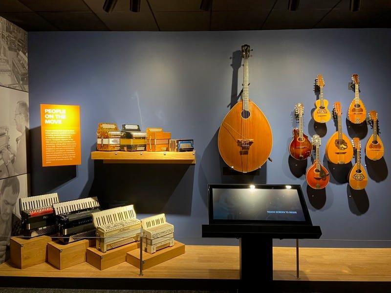 Mandolins on display at NAMM's Museum of Making Music