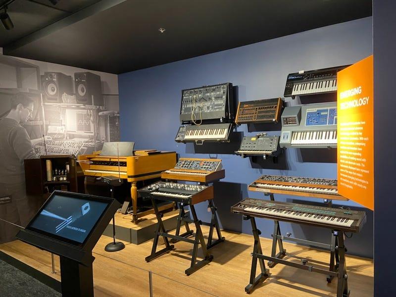 display inside NAMM's Museum of Making Music