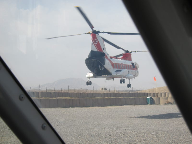 Contracted helicopters in Afghanistan